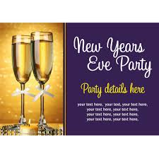 contemporary with text in purple space with new years eve party