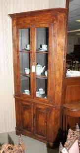 cherry wood corner cabinet farmhouse cherry wood corner cabinet display bookcase