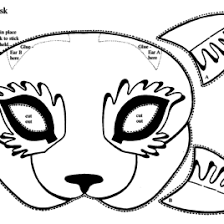 cat mask coloring kids drawing coloring pages marisa