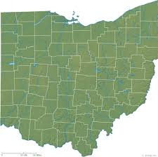 map of ohio ohio physical map and ohio topographic map