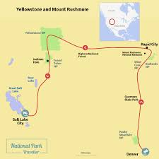 map salt lake city to denver yellowstone and mount rushmore u2013 national park traveller