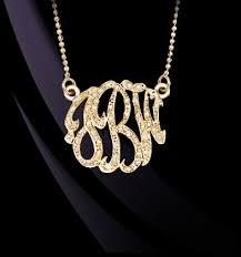 my monogram necklace 11 best gold monogram necklace designs images on