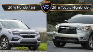 honda pilot size comparison 2016 honda pilot vs toyota highlander by the numbers