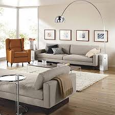 Modern Slipcovered Sofa by Great Room And Board Sofas With Clive Slipcovered Sofa Room Rb