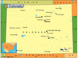colorado physical map colorado map and colorado satellite images
