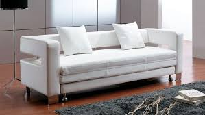 Sofa Sleeper Leather Enchanting White Leather Sleeper Sofa Home Design Trend