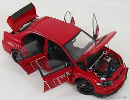 mitsubishi evolution 1 autoart 77196 scale 1 18 mitsubishi lancer evolution ix ralliart red