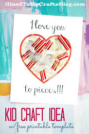 love you to pieces craft w free printable template glued to my