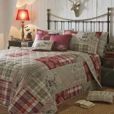 buy tatton red patchwork bed linen bedding home focus at hickeys