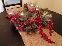 winter centerpiece for the table basket from crate and barrel