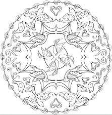 mandala circles coloring pages best mandala printable ideas on