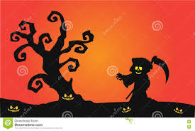 Halloween Silhouette Scary Witch Halloween Silhouette Stock Vector Image 73198460