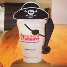 dunkin u0027 donuts celebrates talk pirate dunkin u0027 donuts