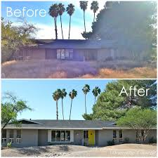 domestic charm home remodel before and after exterior paint