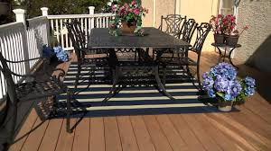 Stripe Outdoor Rug Tommy Bahama Indoor Outdoor Awning Stripe Rug On Qvc Youtube