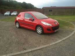 peugeot 207 red peugeot 207 1 6 hdi van 59 reg sold ymark vehicle services