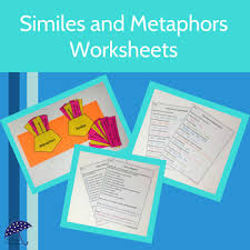 similes and metaphors worksheets by my rainy day creations tpt