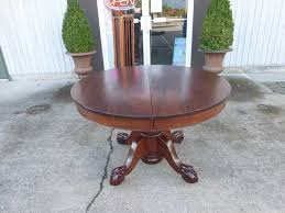 Alluring Claw Foot Pedestal Dining Table Circular Carved Mahogany - Antique white pedestal dining table