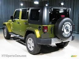 dark green jeep wrangler unlimited 2008 jeep wrangler unlimited sahara 4x4 in rescue green metallic