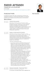 Profile Section Of Resume Example by Financial Accountant Resume Samples Visualcv Resume Samples Database