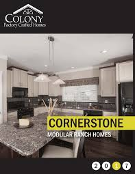 colony homes cornerstone modular 2017 by the commodore corporation