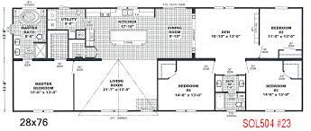 28 X 76 Interior Door Floor Plans For Manufactured Homes Double Wide Stunning Floor