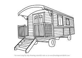 drawing houses learn how to draw a caravan house houses step by step drawing