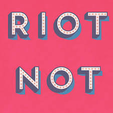pink riot not diet retro typography kitchen art print