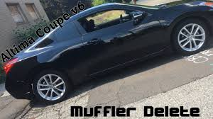 nissan altima coupe sports car 2009 altima coupe 3 5 v6 muffler delete exhaust video youtube