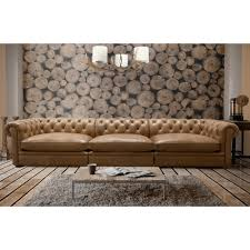 Long Tufted Sofa by Full Grain Leather Xl Xtra Long Sofa Couch Tufted Chesterfield