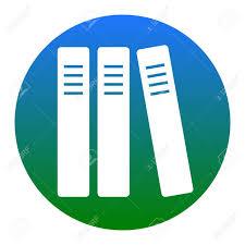 icone bureau rangée de classeurs icône de dossiers de bureau icône blanche