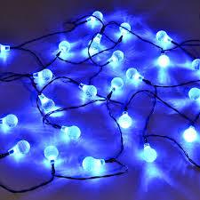 Ball Solar Lights - 25 led crystal ball solar light string best solar garden lights