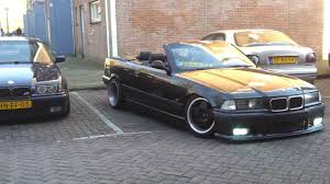 bmw slammed slammed bmw e36 with borbet a 325i cabrio youtube