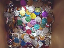 mardi gras deblume 30 pounds of mardi gras doubloons about 3000 mixed throw doubloons