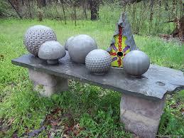 diy cement garden balls garden landscaping