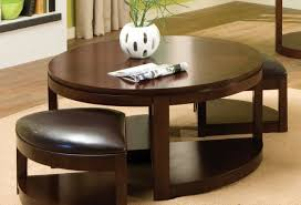 Table With Ottoman Underneath by Coffee Tables Delightful Round Brown Ottoman Coffee Table
