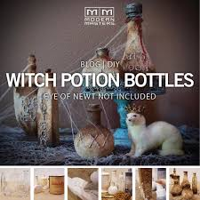 halloween decorations potion bottles halloween diy witch potion bottles blue patina stand modern