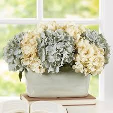 hydrangea centerpiece faux hydrangea centerpiece in planter reviews joss