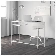 Ikea White Vanity Table Vittsjö Laptop Table White Glass 100x36 Cm Ikea