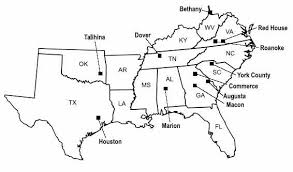 map us states and capitals southern and central united states map stock photo 173558308