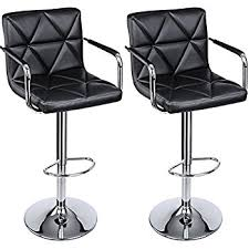 Bar Stool With Back Songmics Adjustable Bar Stools With Arms And Back