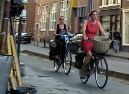 Blind Man Rides Bike Amsterdam Bicycles