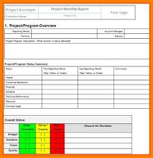 project management status report template project management