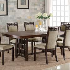 Formal Dining Table by Crown Mark Pryce Contemporary Dining Table With 18