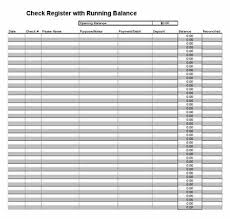Check Register Template Excel Printable Check Register Checkbook Ledger