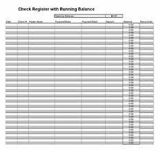Microsoft Excel Check Register Template Printable Check Register Checkbook Ledger