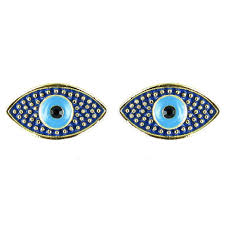 bling small evil eye earrings bling from bling uk