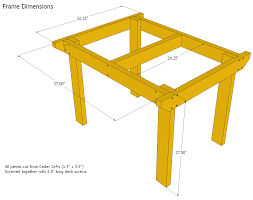 Wood Patio Furniture Plans Free by Patio Table Plans