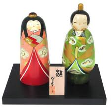 wedding gift japan wedding gift japanese creative kokeshi hina wooden dolls 6 75 h