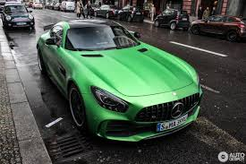 green mercedes 2017 mercedes amg gt r spotted flaunting its amg green hell magno